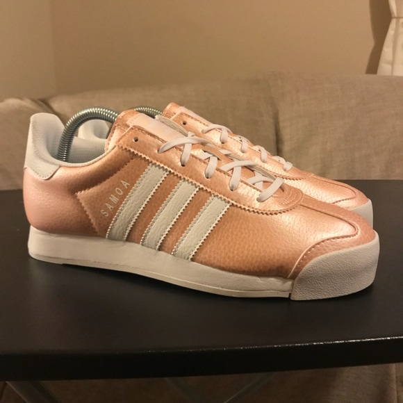 rose gold holographic adidas